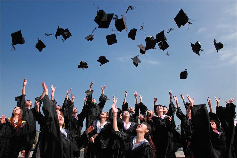 Graduating students.